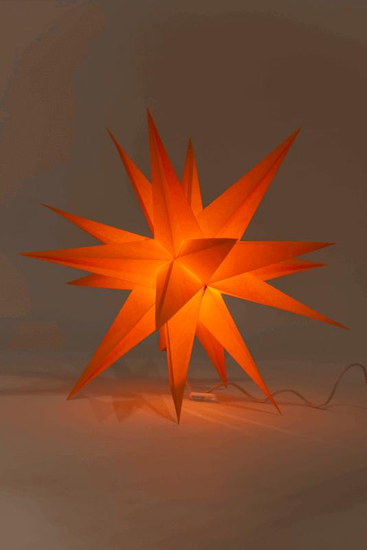 aAnnaberger Faltstern orange No. 3