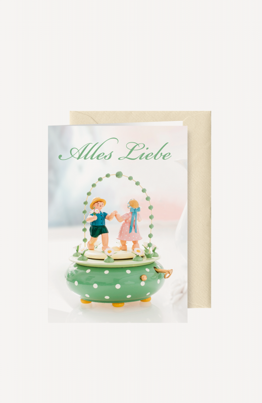 "aGrußkarte ""Alles Liebe"""