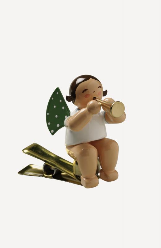 aEngel mit Flöte, auf Klemme