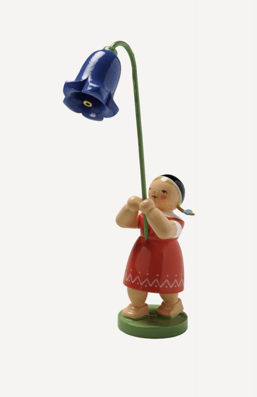 aMädchen mit Glockenblume