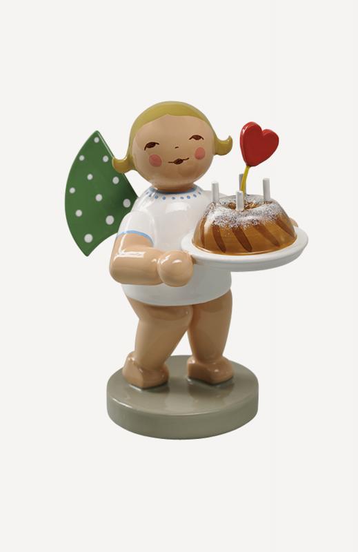 aEngel mit Kuchen und Herz