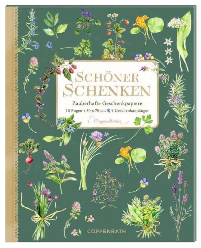aGeschenkpapier-Buch - Schöner Schenken (Kräuter & Blumen)
