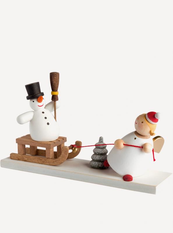 aSchutzengel® mit Schneemannschlitten