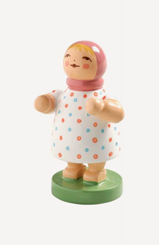 aMädchen mit rosa Mütze