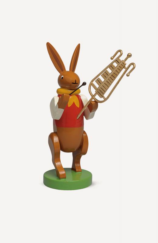 aHasenmusikant mit Glockenspiel