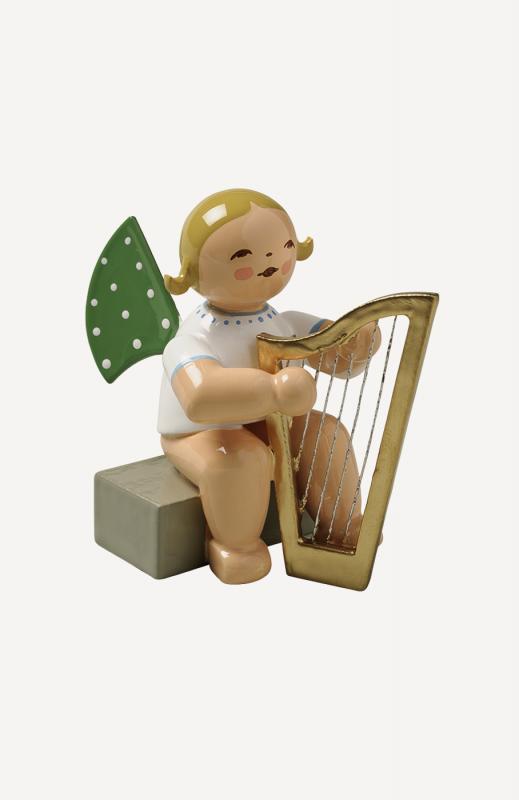aEngel mit Harfe, sitzend