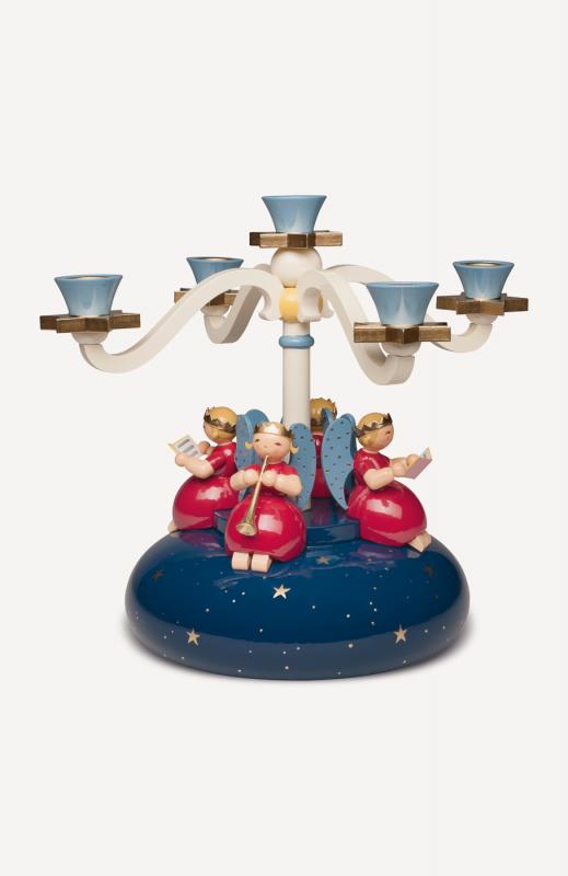 aTischleuchter, vierarmig, mit 4 Engeln