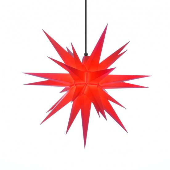 aHerrnhuter Stern A7, rot, Advents- und Weihnachtsstern