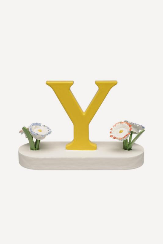 aBuchstabe Y, mit Blumen
