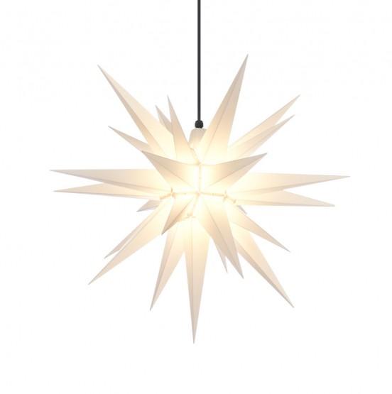aHerrnhuter Stern A7, weiß, Advents- und Weihnachtsstern