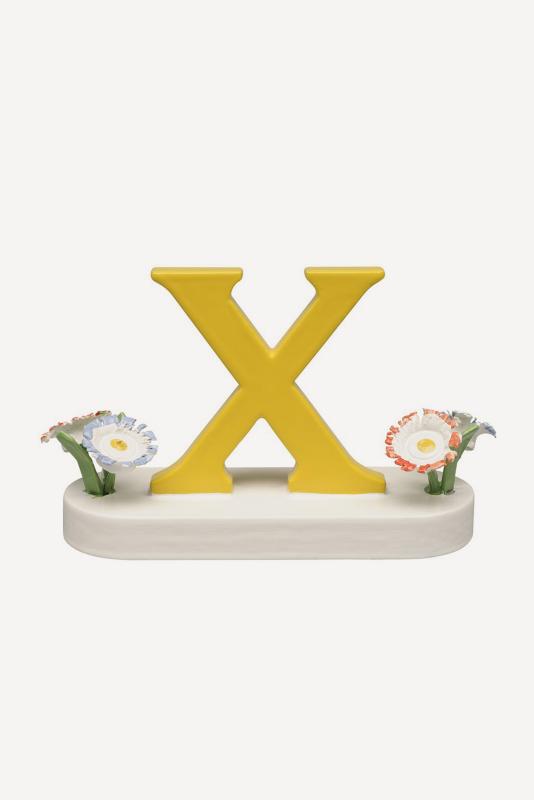 aBuchstabe X, mit Blumen