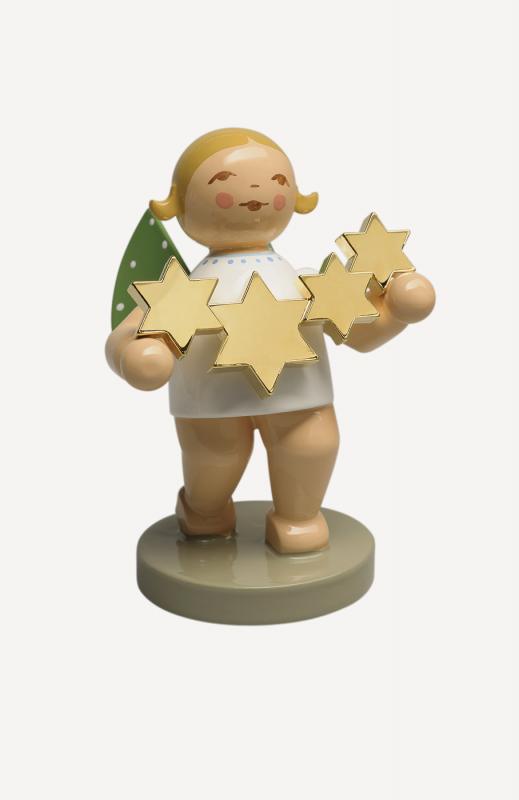 aGoldedition No. 5 - Sternenfänger - Engel mit vergoldeten Sternen
