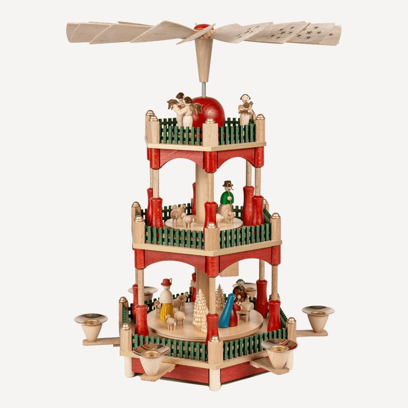 Weihnachtspyramide aus Holz
