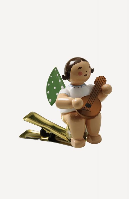 aEngel mit Mandoline, auf Klemme