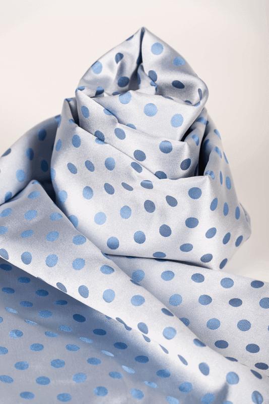 aSchal Punkte blau/hellblau