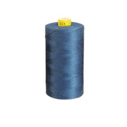 aBaumwoll-Garn, blau