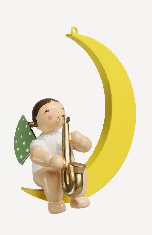 aEngel mit Saxophon im Mond