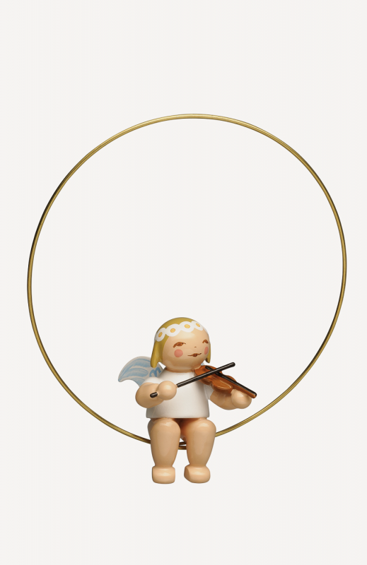 aChristbaumengel im Ring, mit Geige
