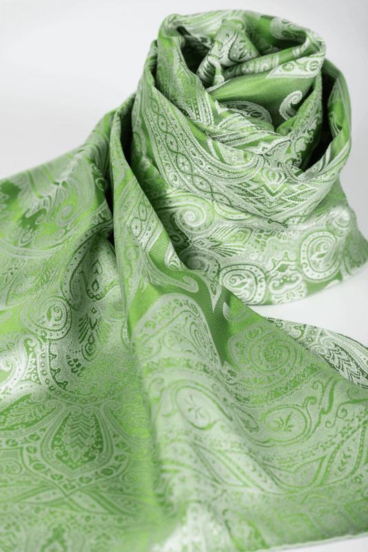 aSchal Paisley grün/hellgrün