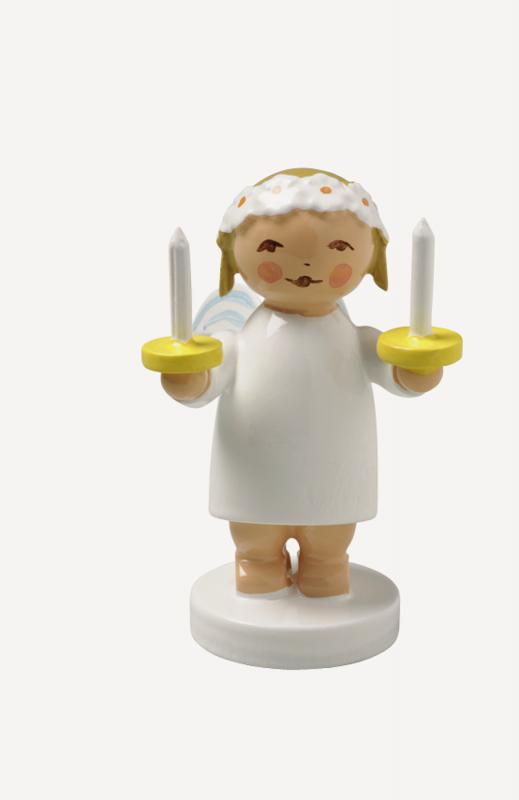 aGratulantenengel mit zwei Kerzen