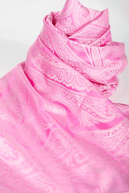 aSchal Paisley, rosa/hellrosa