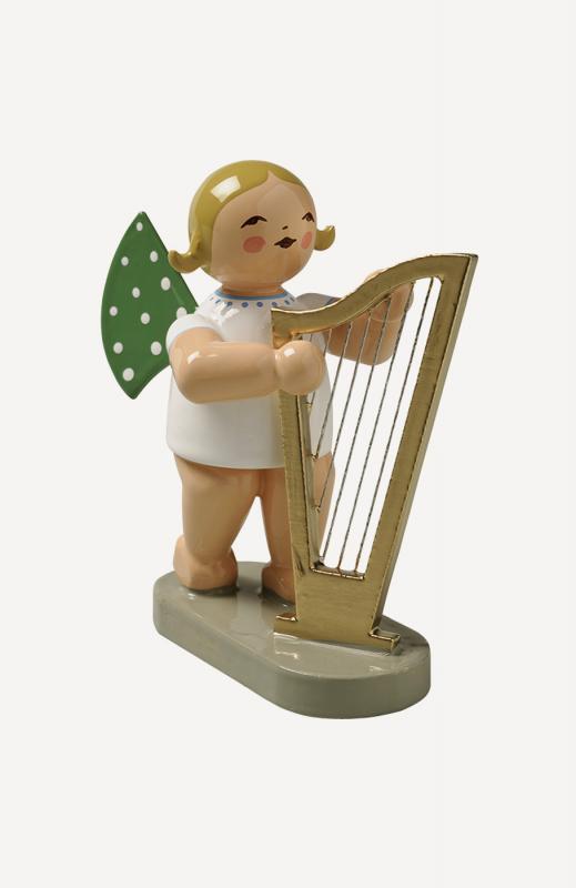 aEngel mit großer Harfe