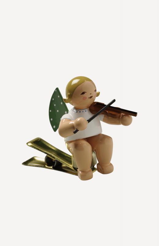 aEngel mit Geige, auf Klemme