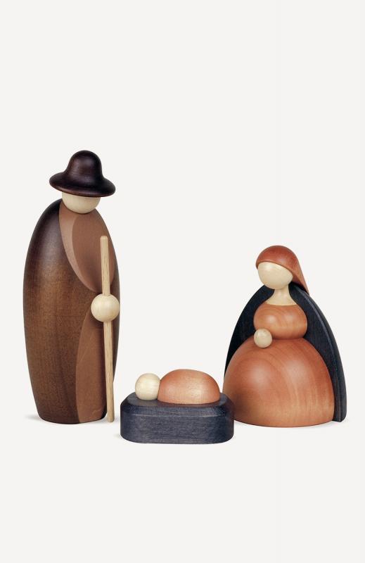 aChristi Geburt, klein, farbig (Maria, Josef, Krippe)