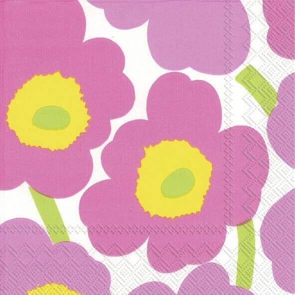 aLunch-Servietten, light pink, marimekko
