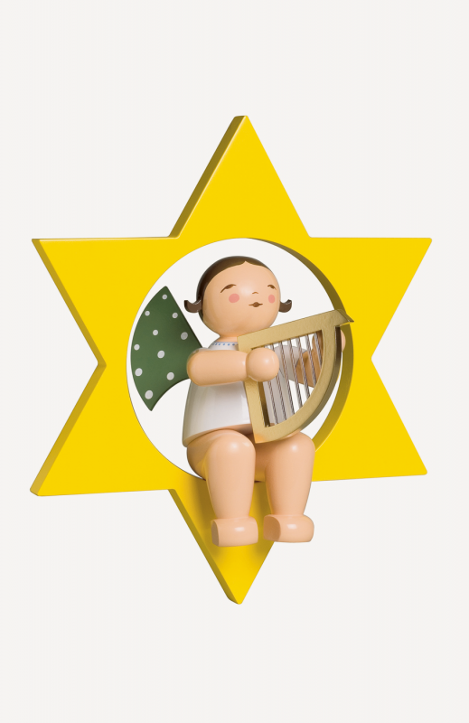 aEngel mit Harfe, im Stern, gross
