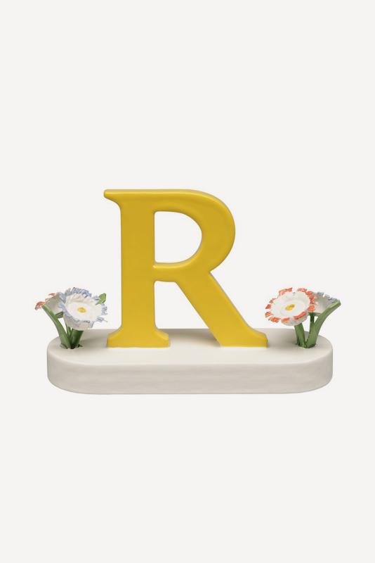 aBuchstabe R, mit Blumen