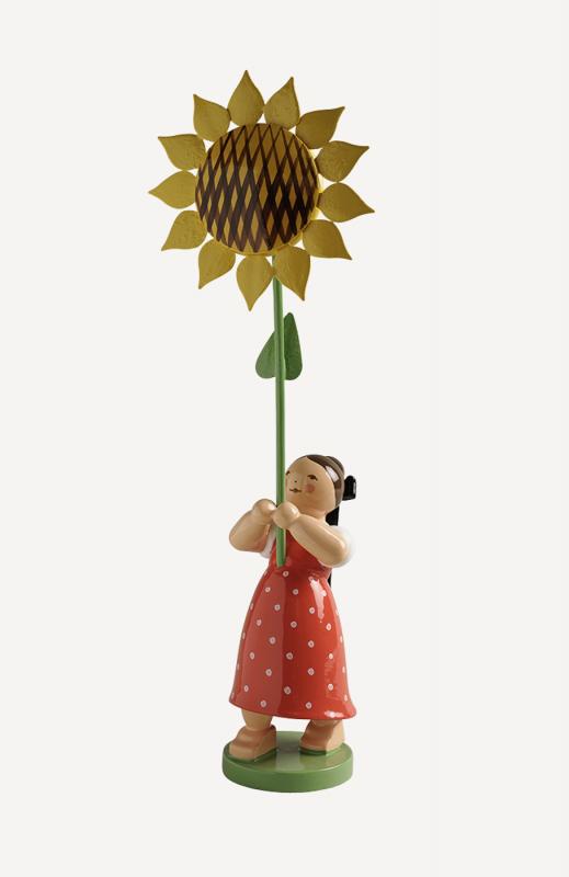 aMädchen mit Sonnenblume